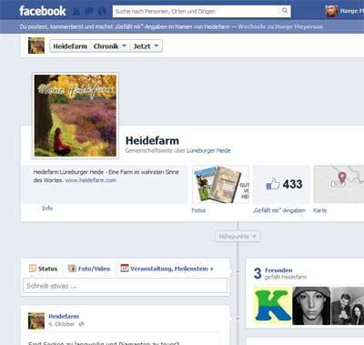 Meine Heidefarm ist auch bei Facebook zu finden