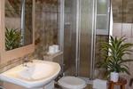 Badezimmer im Landhaus Appartement für vier Personen in meiner Heidefarm