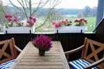 Balkon des Landhaus Appartement für 2 Personen in meiner Heidefarm