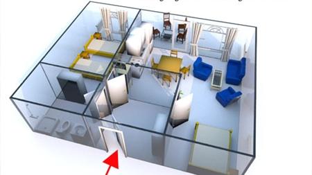 Grundriss des Landhaus Appartements für 2 - 4 Personen in meiner Heidefarm
