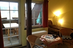 Wohn und Schlafraum des Landhaus Appartement für 2 Personen in meiner Heidefarm