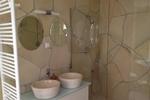 Badezimmer des Komfortferienhaus für 4 Personen in meiner Heidefarm