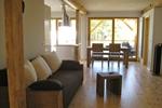 Wohnzimmer des Komfortferienhaus für 4 Personen in meiner Heidefarm